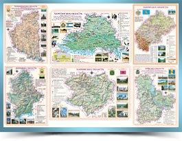 Настольні мапи областей України