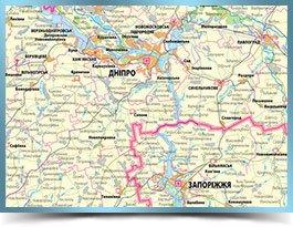 Оглядова мапа України ціна